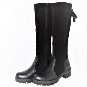 Moteriški žieminiai odiniai ilgaauliai batai GABBI