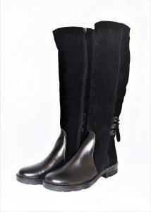 Moteriški žieminiai odiniai ilgaauliai batai STAŠKO
