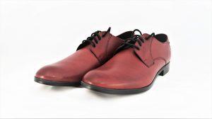 Vyriški raudoni klasikiniai odiniai batai KRISBUT